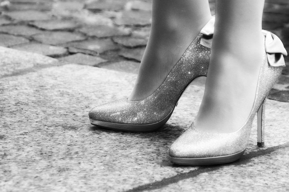 Metalově stříbrné boty